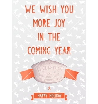 Free vintage card template with the new year vector - Free vector #239179