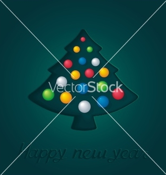 Free abstract green firtree with christmas toys vector - vector gratuit #239189