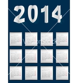 Free calendar for 2014 vector - Free vector #239209
