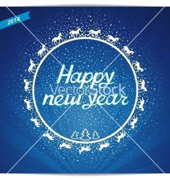 Free happy new year card greeting vector - бесплатный vector #239239