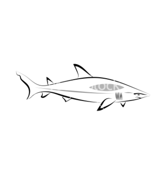Free stylized shark vector - Free vector #239249