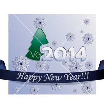 Free new year card made in plane style vector - Free vector #239289