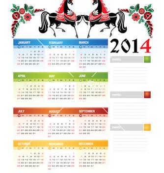 Free calendar 2014 vector - Kostenloses vector #239419