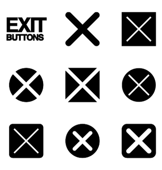 Free exit buttons vector - Free vector #239519