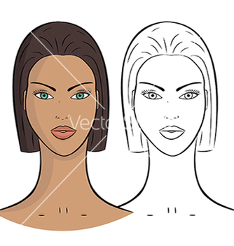 Free female portrait vector - vector gratuit #239599