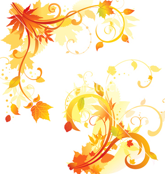 Free autumn floral design elements vector - Free vector #239689