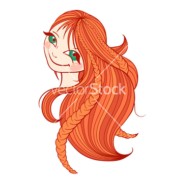 Free beautiful redhaired woman with long hair vector - Free vector #239799