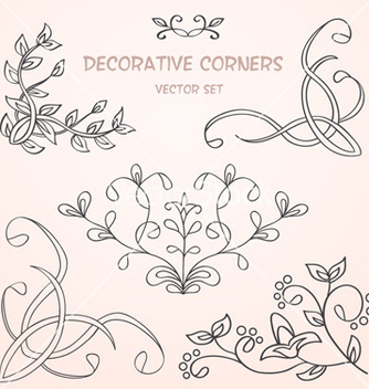 Free floral decorative borders set vector - Free vector #239859