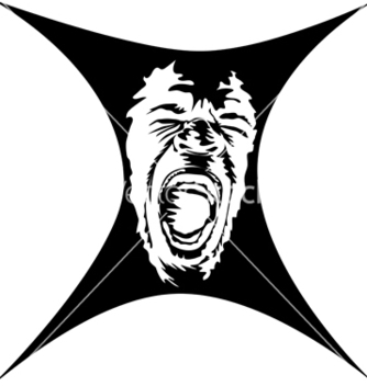 Free a screaming face vector - Free vector #240219