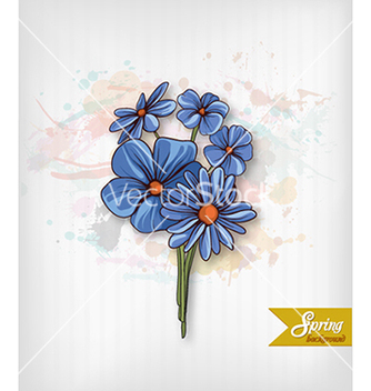Free floral background vector - Free vector #240249