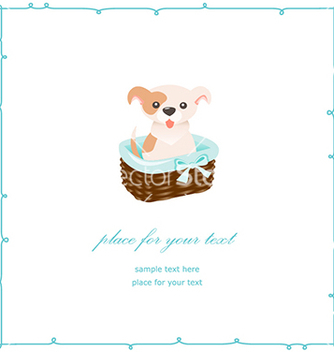 Free cute puppy vector - бесплатный vector #240439