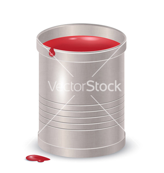Free metallic textured bucket with red paint vector - vector gratuit #240499