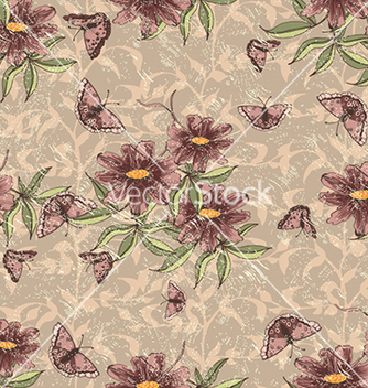 Free seamless floral background vector - Free vector #240619