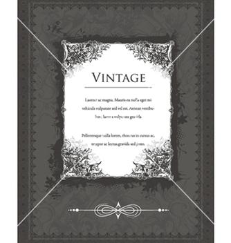 Free vintage floral frame vector - Kostenloses vector #240809