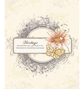 Free grunge floral frame vector - vector #240839 gratis