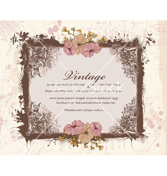 Free vintage floral frame vector - Kostenloses vector #240849