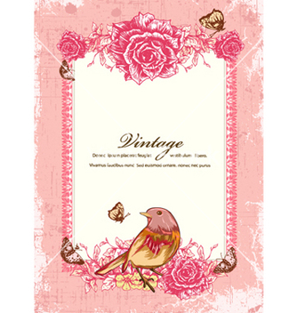 Free vintage floral frame vector - Kostenloses vector #240889