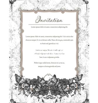Free vintage floral frame vector - Kostenloses vector #240909