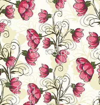 Free seamless floral background vector - Free vector #240949