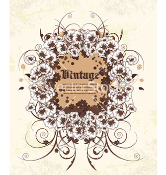 Free grunge floral frame vector - Free vector #240989