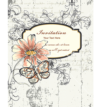 Free vintage floral frame vector - Free vector #241029