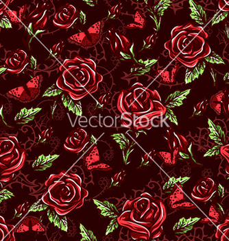 Free seamless floral background vector - Free vector #241049