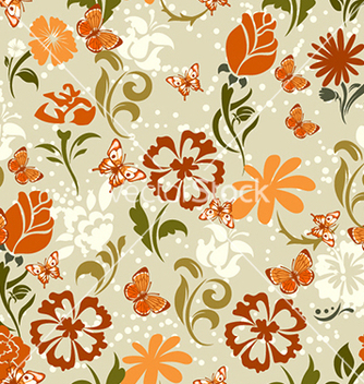 Free seamless floral background vector - Kostenloses vector #241059