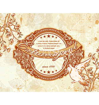 Free vintage floral background vector - Kostenloses vector #241079