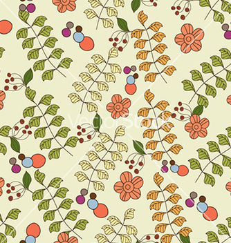 Free seamless floral background vector - Kostenloses vector #241099