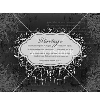 Free vintage floral frame vector - Kostenloses vector #241119