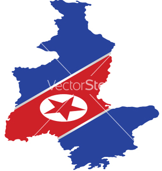 Free north korea flag vector - Kostenloses vector #241189