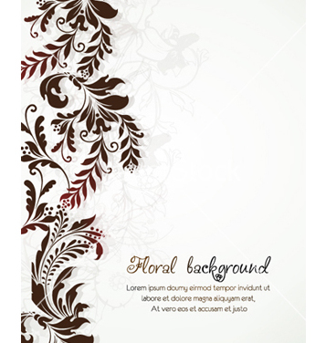 Free floral background vector - vector #241549 gratis
