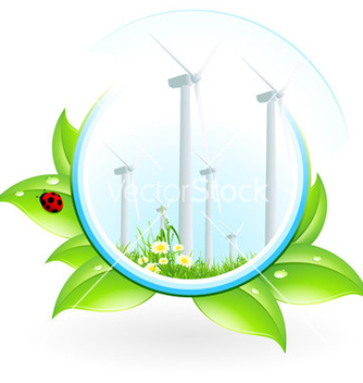 Free wind power plant icon vector - vector #241619 gratis