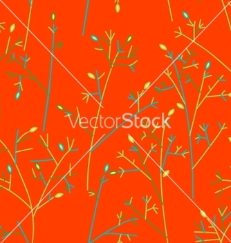 Free seamless pattern with trees and branches vector - vector #242259 gratis