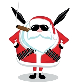 Free bad santa vector - Free vector #242439