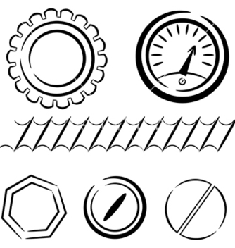 Free cartoon set of industrial elements eps10 vector - vector #242499 gratis
