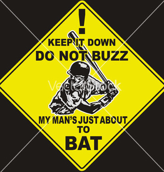 Free baseball caution to bat vector - vector gratuit #242519