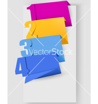 Free abstract origami speech bubble with numbers vector - Free vector #242559