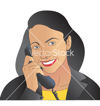 Free women on phone vector - Free vector #242589