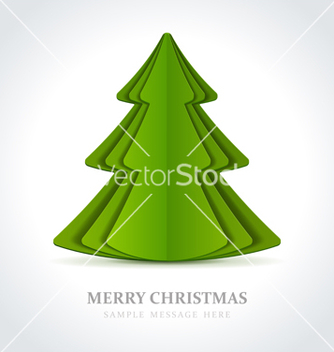 Free christmas tree from cut paper vector - vector gratuit #242619