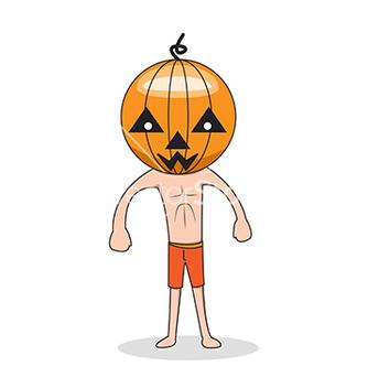 Free cute halloween character pumpkin vector - Free vector #242629