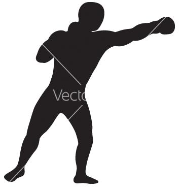 Free left jab outline vector - vector gratuit #242659