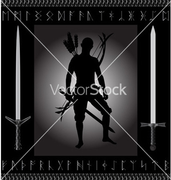 Free fantasy hunter vector - Free vector #242729