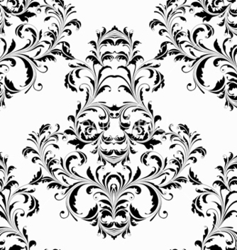 Free damask seamless pattern vector - Free vector #242859