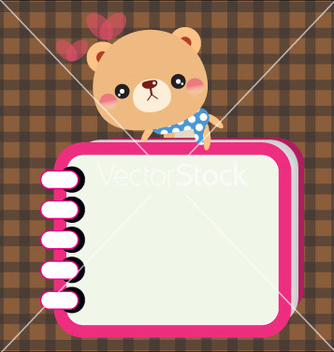 Free bear with notebook vector - Free vector #243019