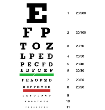 Free snellen chart preview vector - бесплатный vector #243029
