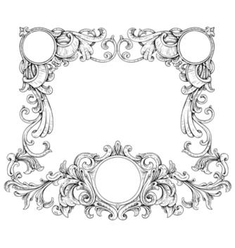 Free vintage floral frame vector - Free vector #243069