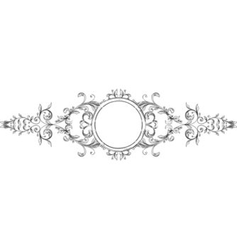 Free vintage floral frame vector - Kostenloses vector #243089
