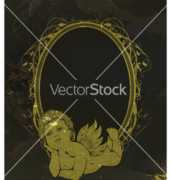 Free angel with frame vector - Free vector #243099