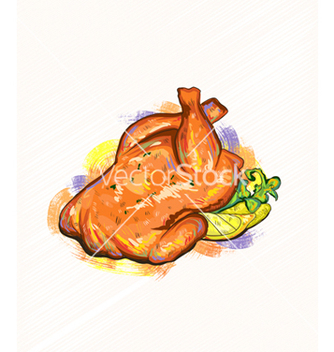 Free roast chicken vector - Free vector #243119